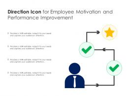 Direction Icon For Employee Motivation And Performance Improvement