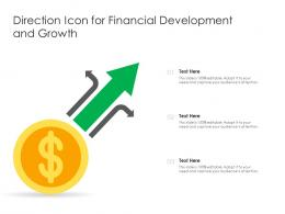 Direction Icon For Financial Development And Growth