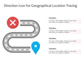 Direction Icon For Geographical Location Tracing
