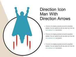 Direction Icon Man With Direction Arrows