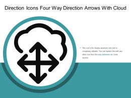 Direction Icons Four Way Direction Arrows With Cloud