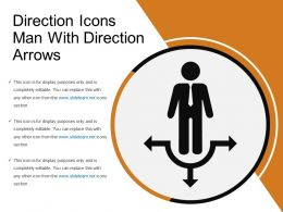 Direction Icons Man With Direction Arrows