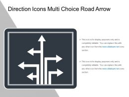 Direction Icons Multi Choice Road Arrow