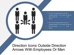 Direction Icons Outside Direction Arrows With Employees Or Men
