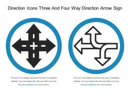 Direction Icons Three And Four Way Direction Arrow Sign