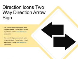 Direction Icons Two Way Direction Arrow Sign