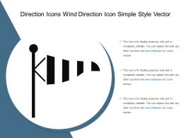 Direction Icons Wind Direction Icon Simple Style Vector