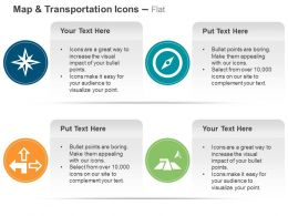 Direction Navigator Compass Different Path Locations Ppt Icons Graphics
