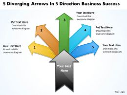 direction new business powerpoint presentation success Arrows Chart Software templates
