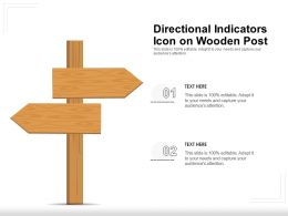 Directional Indicators Icon On Wooden Post