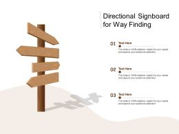 Directional Signboard For Way Finding