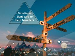 Directional Signboard To Help Travellers