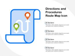 Directions And Procedures Route Map Icon