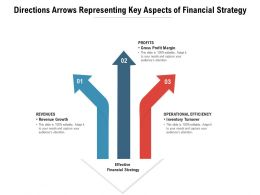 Directions Arrows Representing Key Aspects Of Financial Strategy