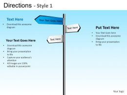 Directions Style 1 Powerpoint Presentation Slides