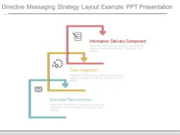 Directive Messaging Strategy Layout Example Ppt Presentation