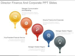 Director Finance And Corporate Ppt Slides