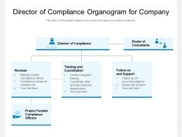 Director Of Compliance Organogram For Company