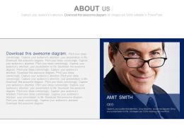 Director Profile For Company About Us Powerpoint Slides