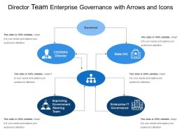 Director Team Enterprise Governance With Arrows And Icons