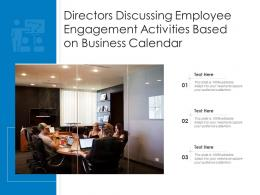 Directors Discussing Employee Engagement Activities Based On Business Calendar