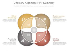 Directory Alignment Ppt Summary