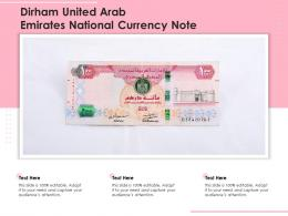 Dirham United Arab Emirates National Currency Note