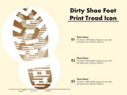 Dirty Shoe Foot Print Tread Icon