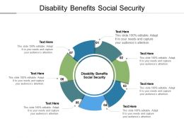 Disability Benefits Social Security Ppt Powerpoint Presentation Layouts Design Templates Cpb