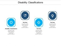 Disability Classifications Ppt Powerpoint Presentation Infographic Template Samples Cpb