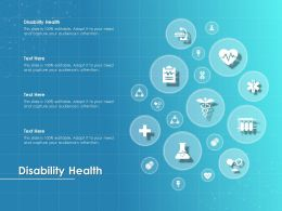 Disability Health Ppt Powerpoint Presentation Layouts Demonstration