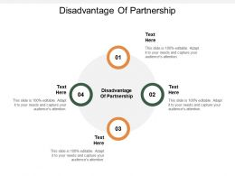 Disadvantage Of Partnership Ppt Powerpoint Presentation Infographic Template Layout Ideas Cpb
