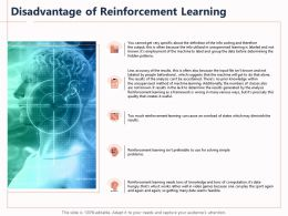 Disadvantage Of Reinforcement Learning Solving Simple Ppt Powerpoint Presentation Smartart