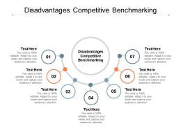 Disadvantages Competitive Benchmarking Ppt Powerpoint Presentation Pictures Maker Cpb