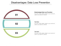 Disadvantages Data Loss Prevention Ppt Powerpoint Presentation Infographics Cpb