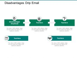 Disadvantages Drip Email Ppt Powerpoint Presentation Model Deck Cpb