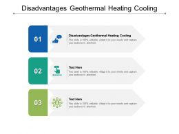 Disadvantages Geothermal Heating Cooling Ppt Powerpoint Presentation Inspiration Brochure Cpb