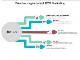 Disadvantages Intent B2B Marketing Ppt Powerpoint Presentation Icon Styles Cpb
