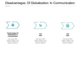 Disadvantages Of Globalization In Communication Ppt Powerpoint Presentation Professional Cpb