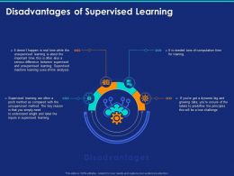 Disadvantages Of Supervised Learning Ppt Powerpoint Presentation Show