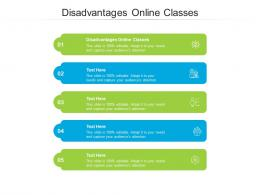 Disadvantages Online Classes Ppt Powerpoint Presentation Summary Shapes Cpb