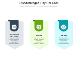 Disadvantages Pay Per Click Ppt Powerpoint Styles Graphics Template Cpb