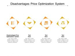 Disadvantages Price Optimization System Ppt Powerpoint Presentation File Outfit Cpb