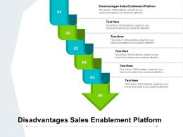 Disadvantages Sales Enablement Platform Ppt Powerpoint Presentation Aids Cpb
