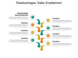 Disadvantages Sales Enablement Ppt Powerpoint Presentation Inspiration Cpb