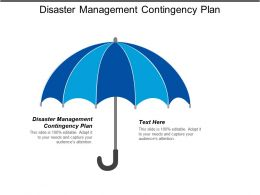 Disaster Management Contingency Plan Ppt Powerpoint Presentation Gallery Summary Cpb
