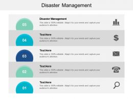 Disaster Management Ppt Powerpoint Presentation File Graphic Tips Cpb