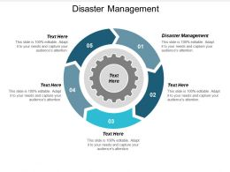 Disaster Management Ppt Powerpoint Presentation Icon Infographics Cpb