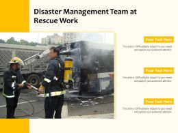 Disaster Management Team At Rescue Work