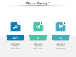 Disaster Planning IT Ppt Powerpoint Presentation Inspiration Format Cpb